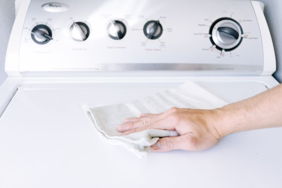 cleaning a top-loading washer