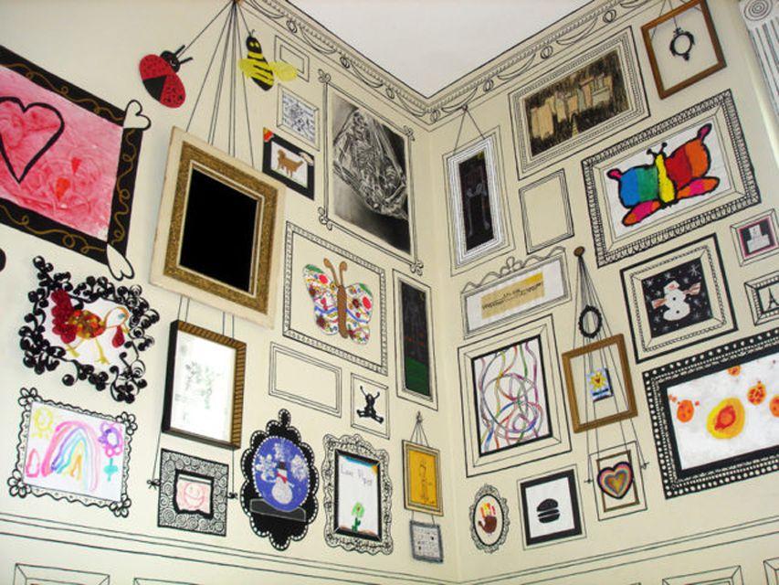 Dibujado a mano Sharpie Gallery Wall