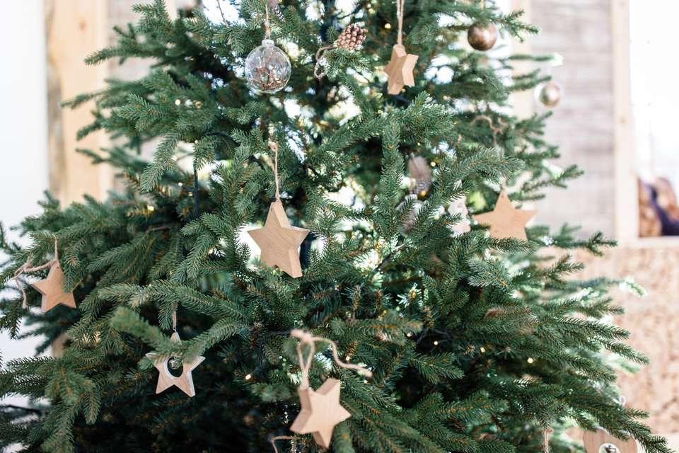 Minimalism christmas tree in scandinavian style