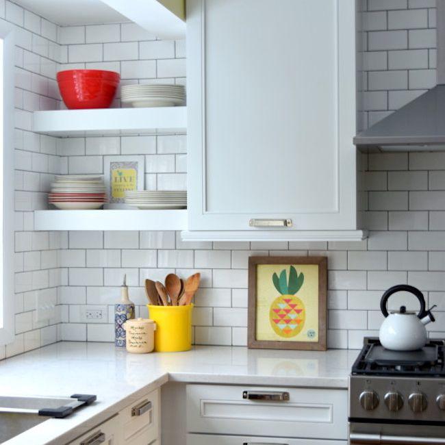 cocina con baldosas de espiga , cocina pequeña con azulejos del metro