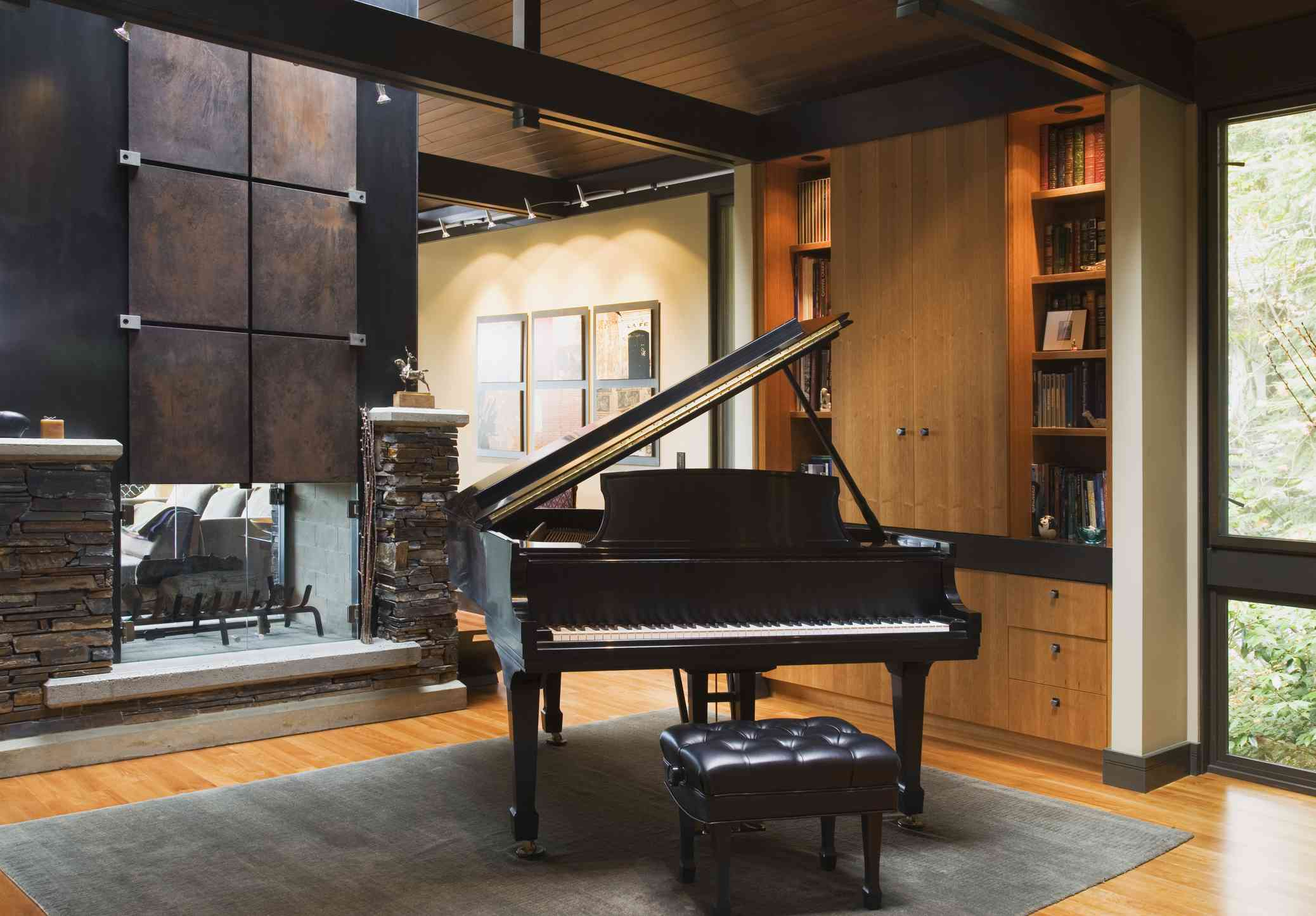 Music Room Double Fireplace