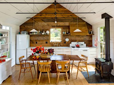 tiny cottage kitchen open space