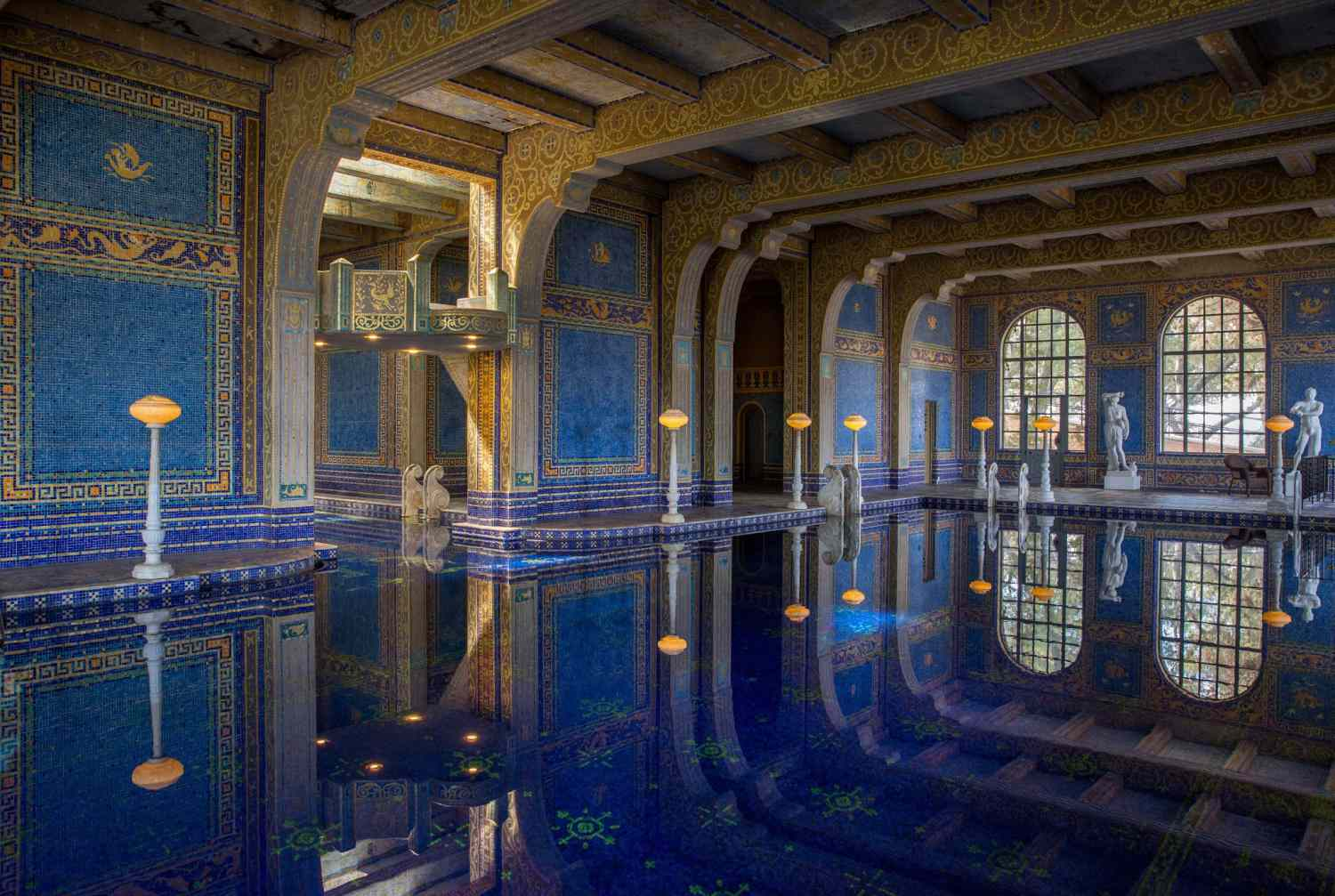 Hearst Castle's Roman Indoor Pool
