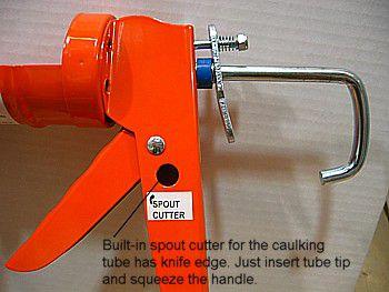 caulk gun spout cutter