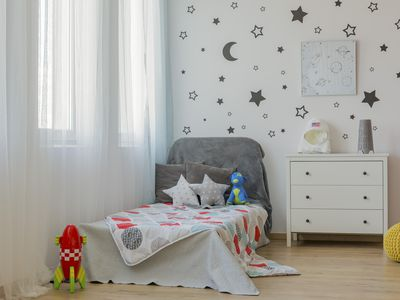 Outer space child bedroom idea