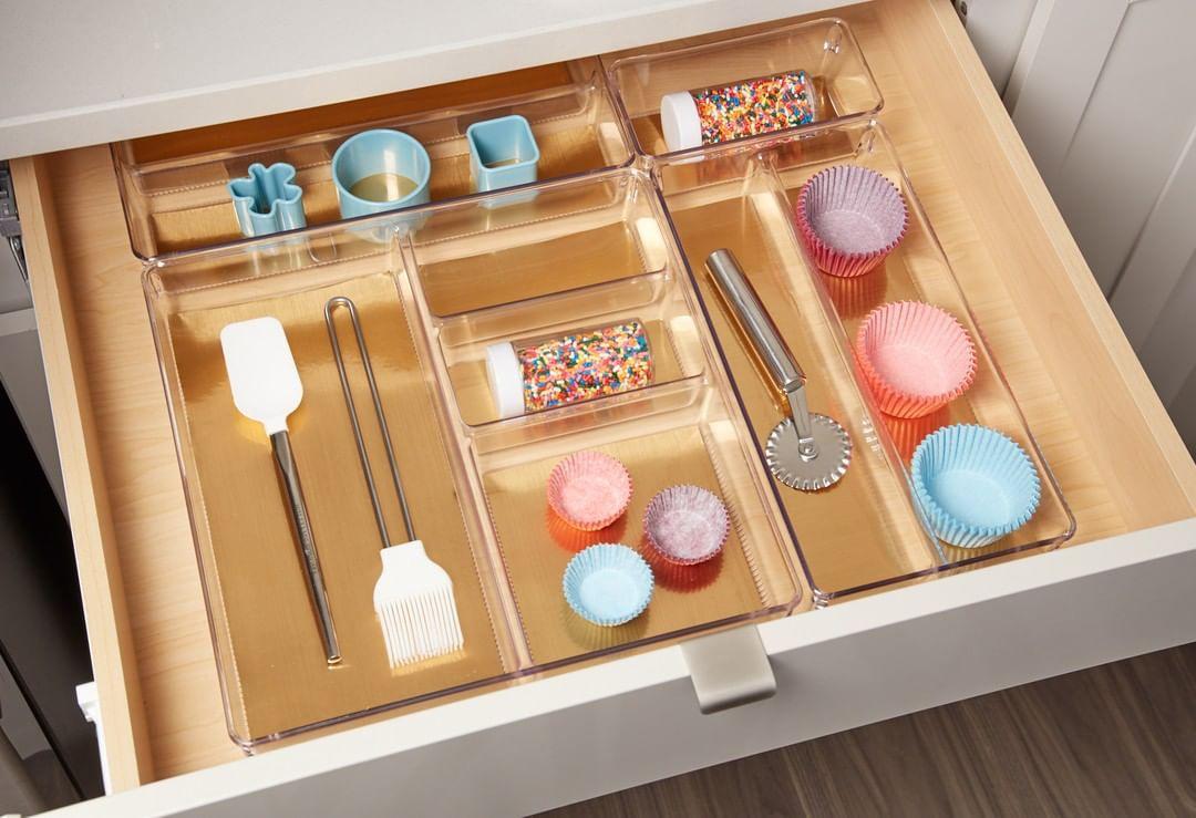 Organized baking drawer