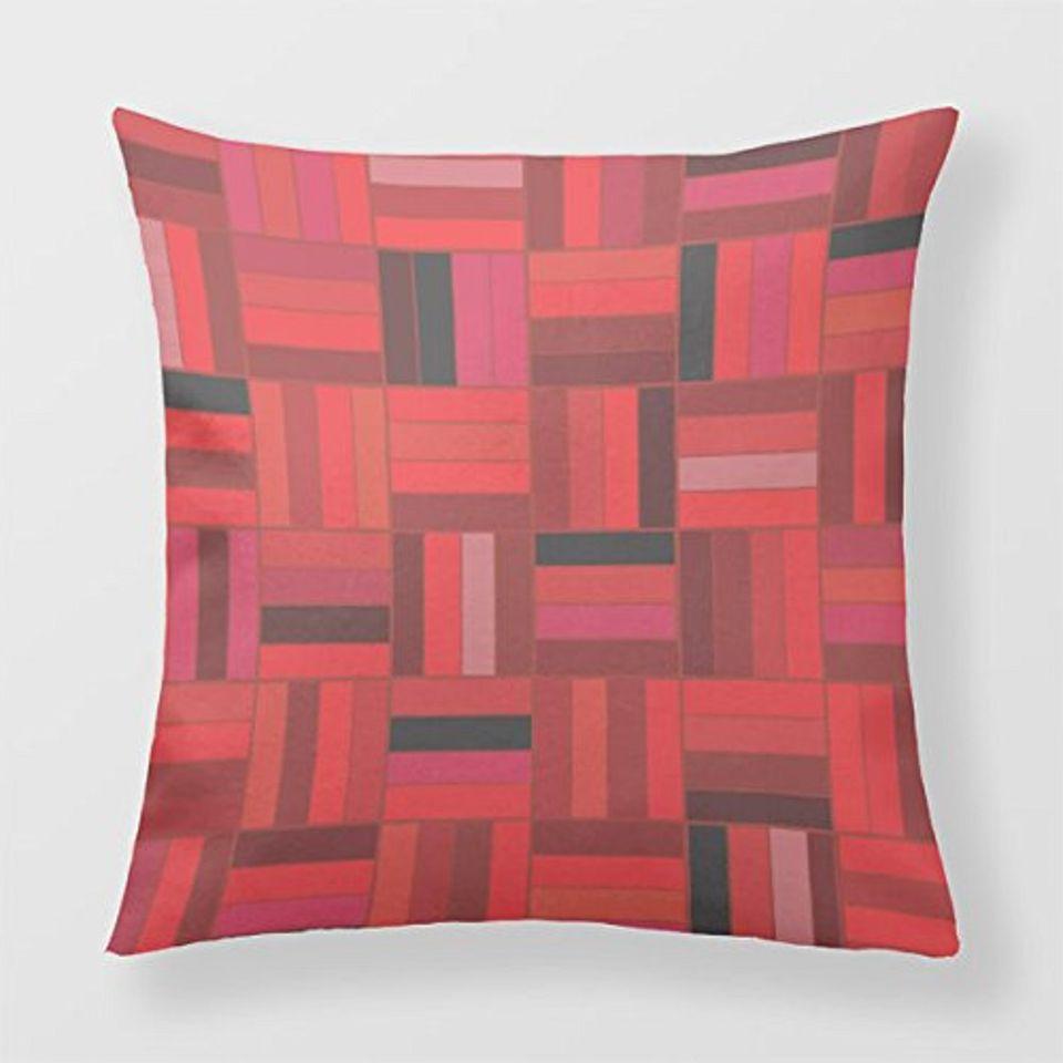 Basketweave pattern throw pillow