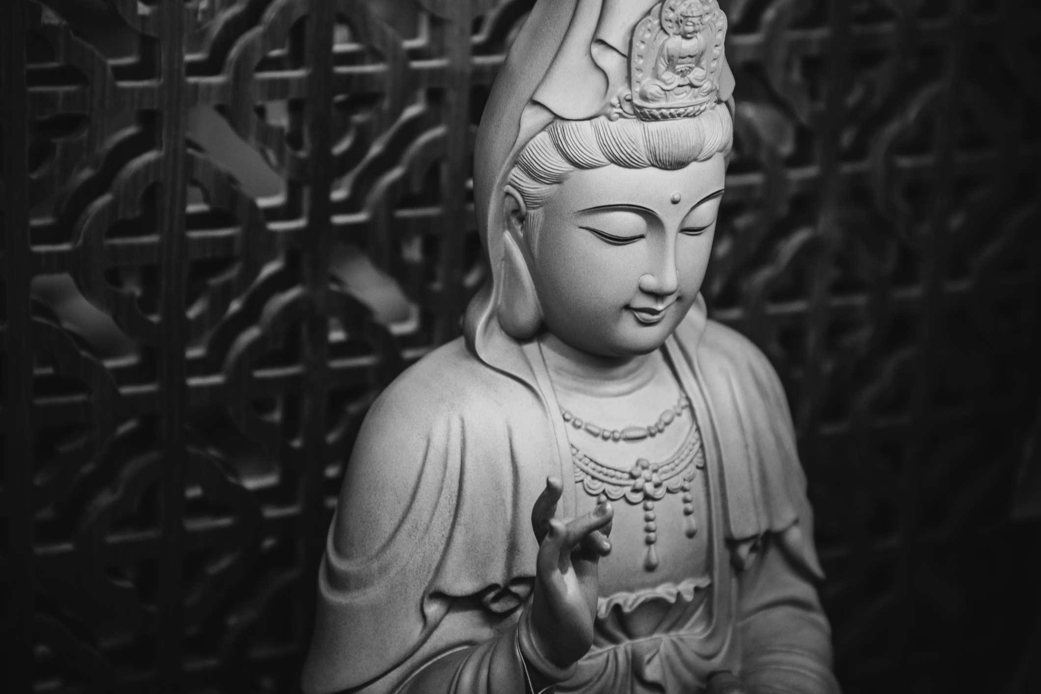 Quan Yin Statue in white