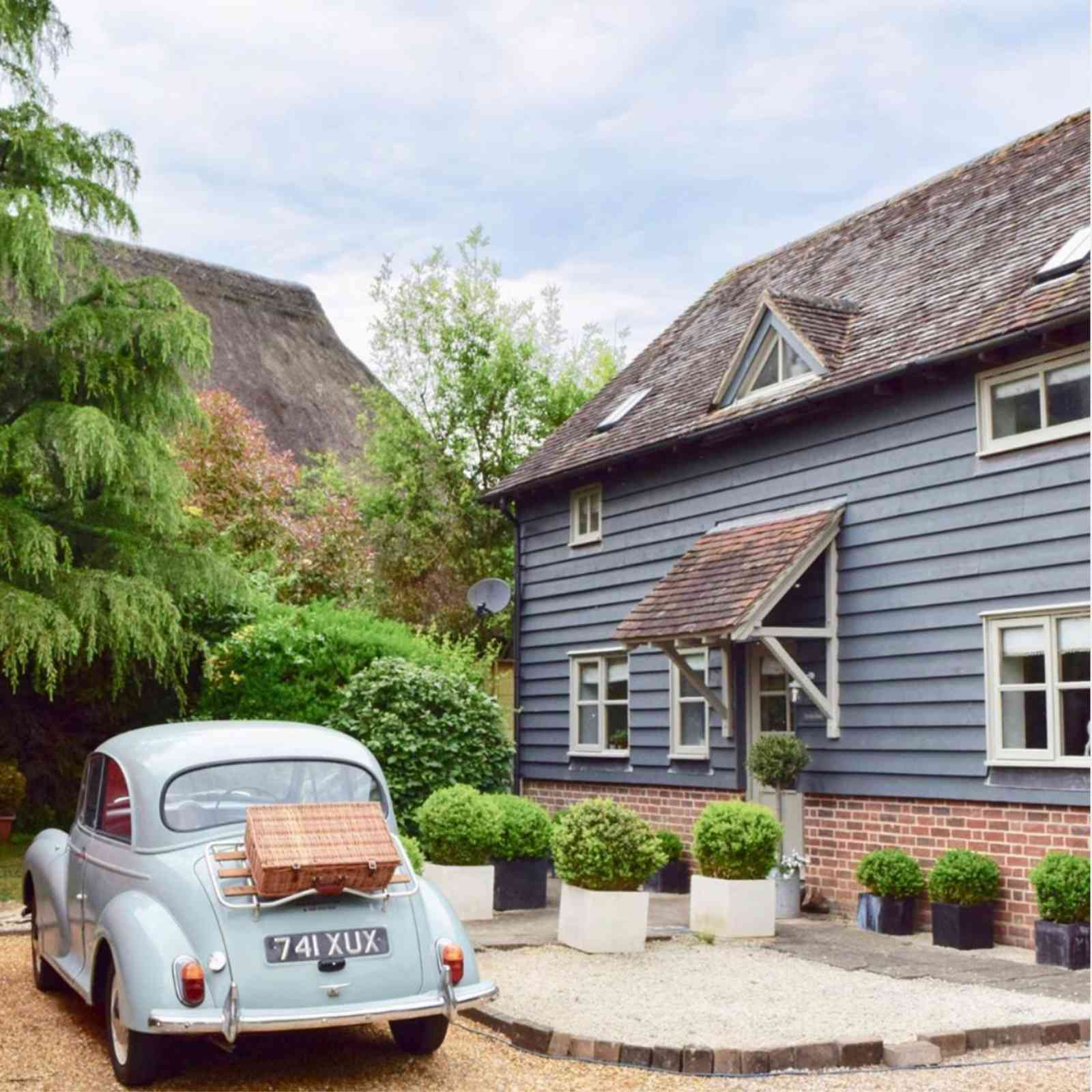 old-looking english cottage