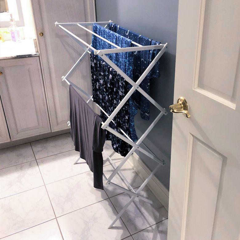AmazonBasics Foldable Clothes Drying Laundry Rack