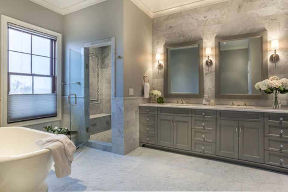 Gorgeous Bathrooms With Marble Tile - Large marble bathroom tiles
