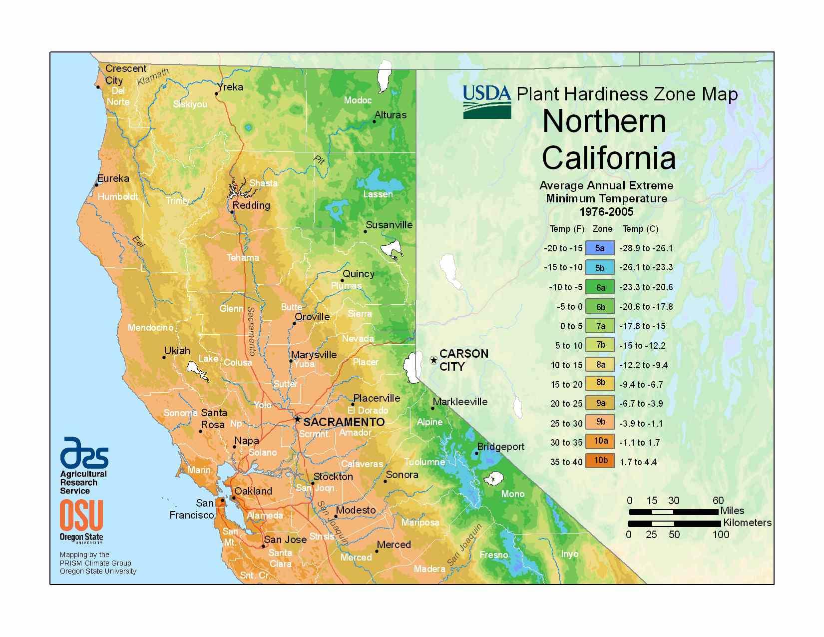 Photo of the Northern California Hardiness Zones