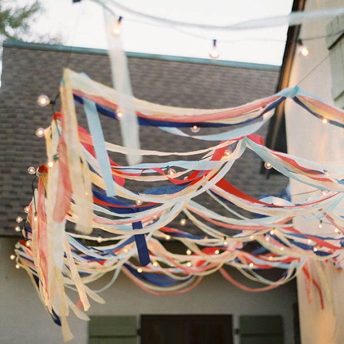 red white blue streamers