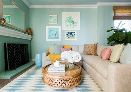 Minty Fresh Coastal Living Room