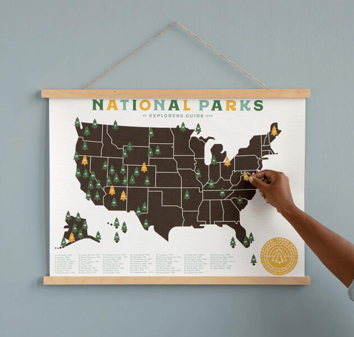 Uncommon Goods National Parks Explorer Map