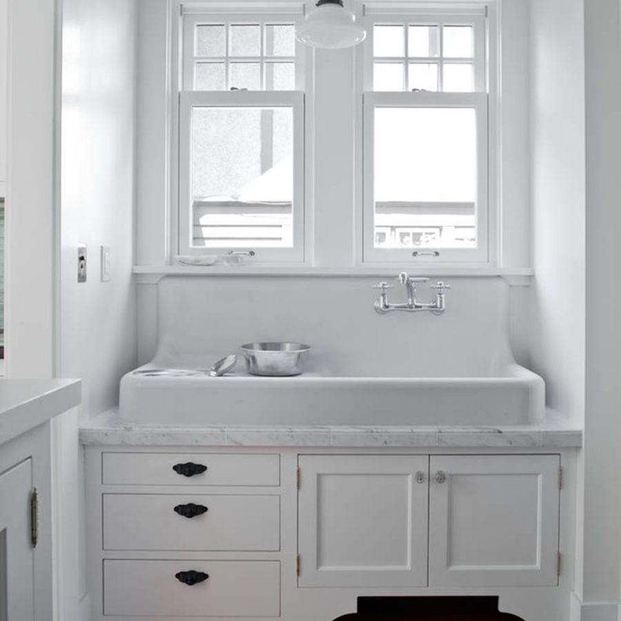trough-style farmhouse sink