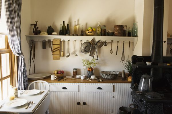 Small kitchen with kitchen tools