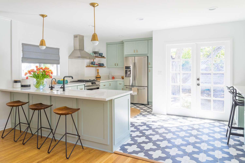 azulejo estampado en la cocina