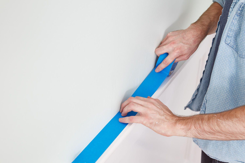 Applying painters tape