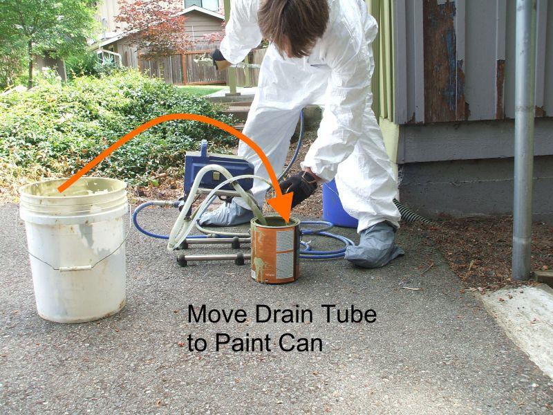 Using a drain tube