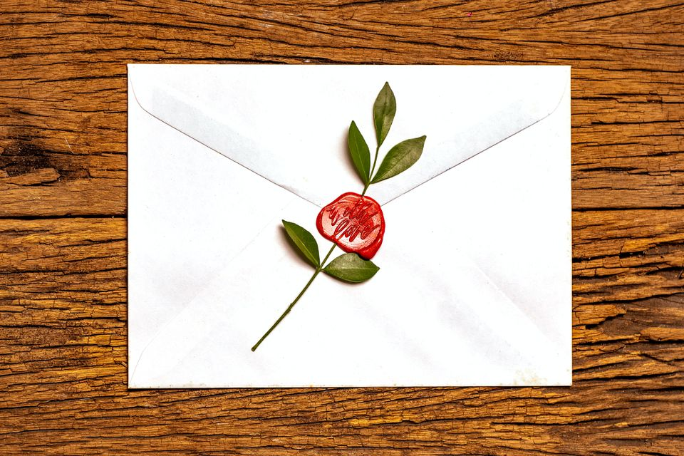 Carta con sello de amor
