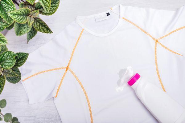 oil stain on a nylon garment