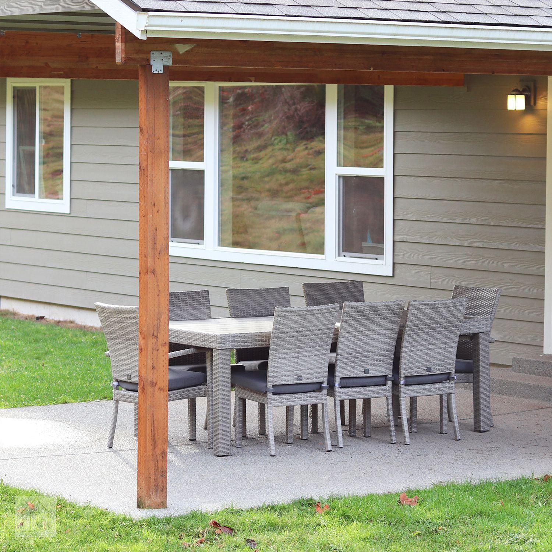 Wade Logan Castelli 9 Piece Sunbrella Set Classy Outdoor Comfort
