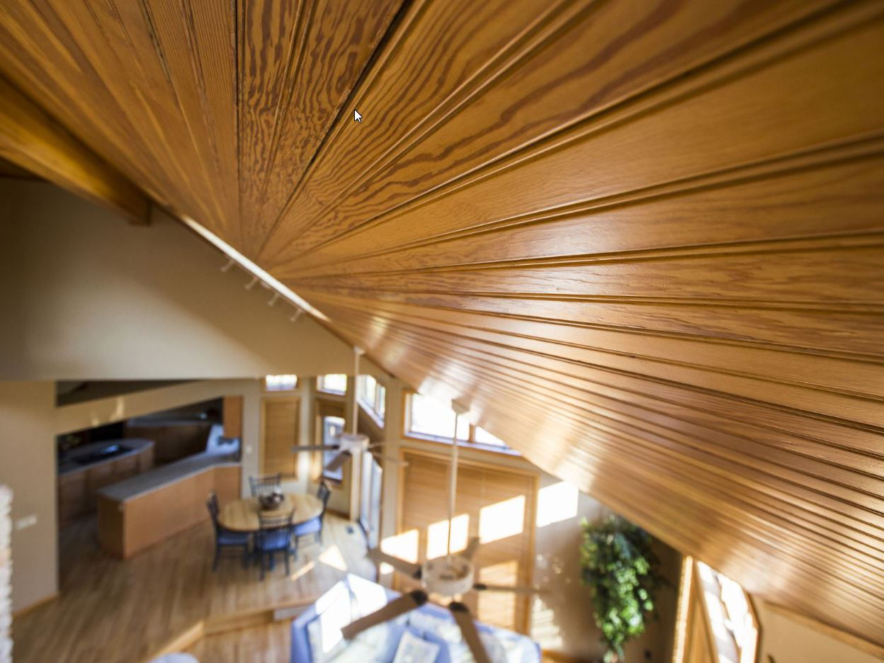 Tongue And Groove Pine Wood Vs Drywall Ceiling