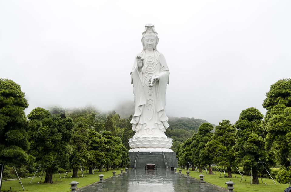 Famous Guanyin statue in Hong Kong