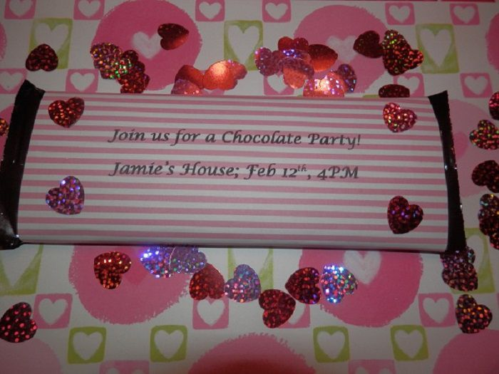 Candy bar invitation