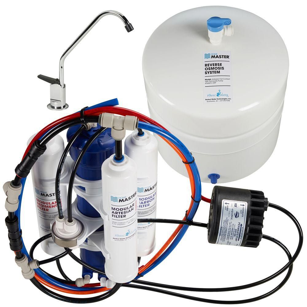 Home Master TMAFC-ERP Full Contact Reverse Osmosis Water Filter System with Permeate Pump