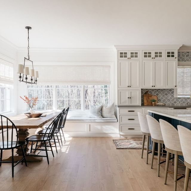 Open kitchen and dining room