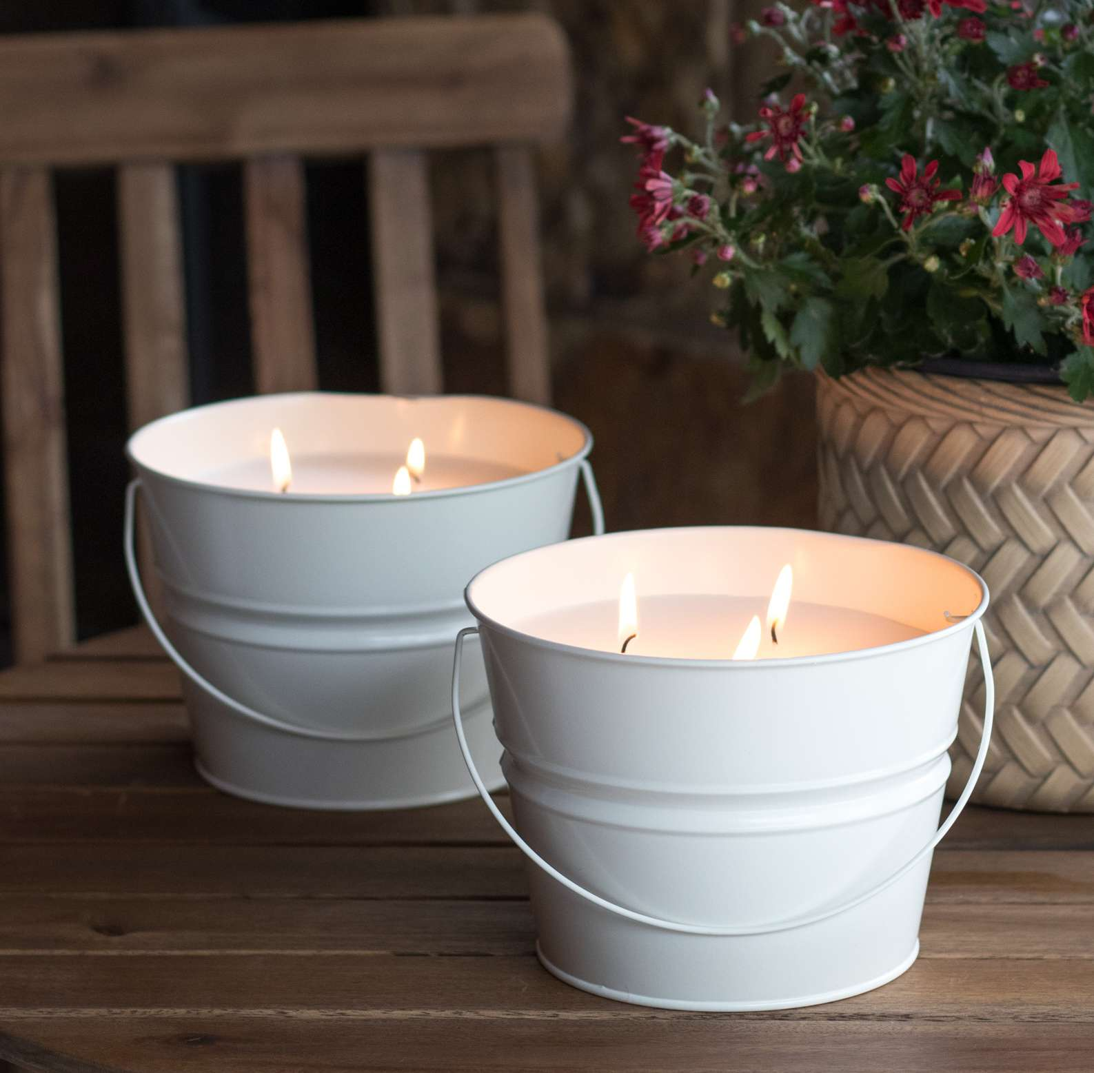 Mainstays 30-Ounce 3-Wick Ivory Bucket Outdoor Citronella Candle