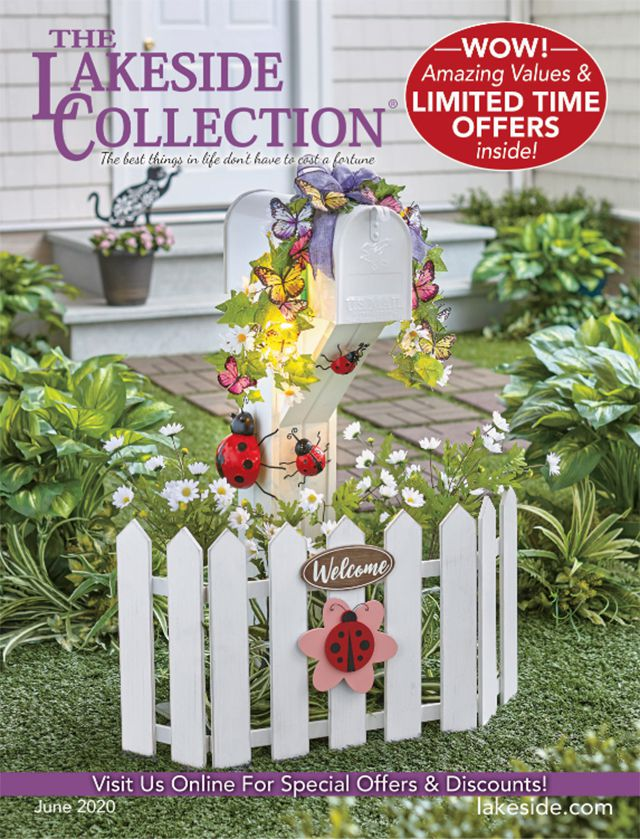 The cover of a Lakeside Collection catalog with a Spring mailbox