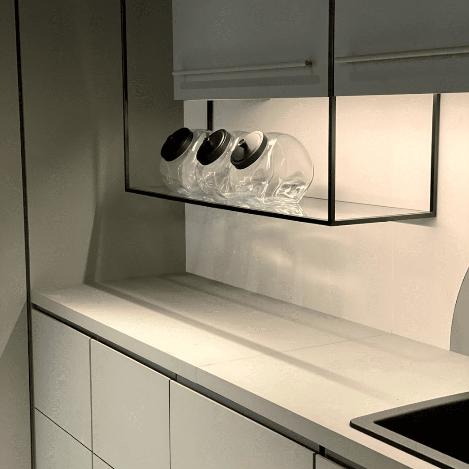 Under cabinet jar storage