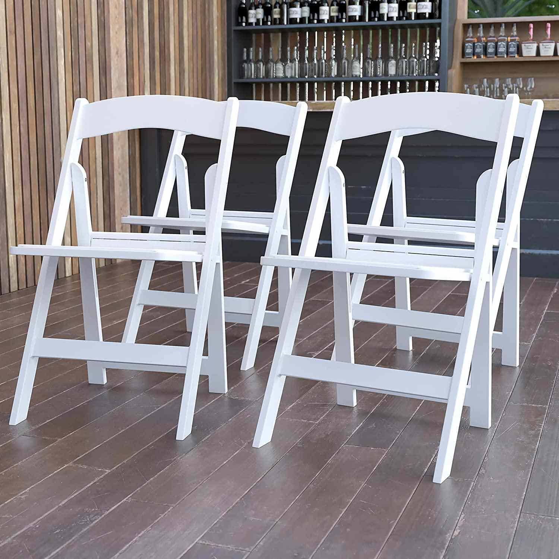 Emma + Oliver Resin Folding Chair