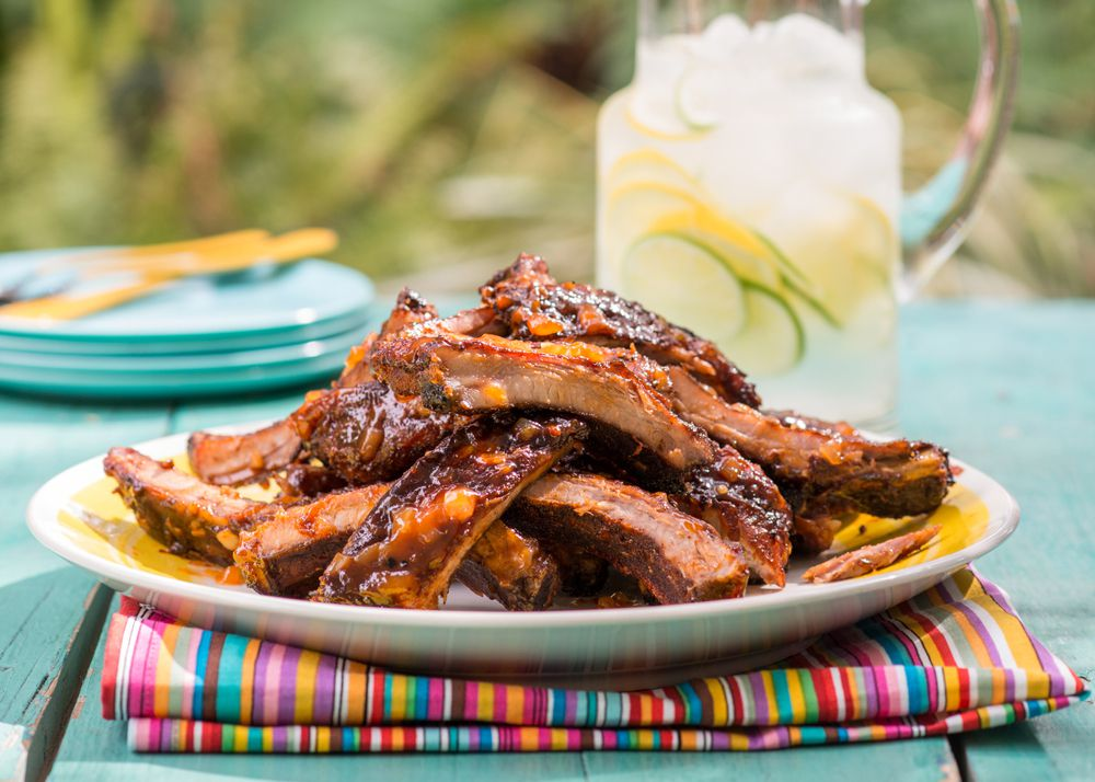 Ribs on a platter