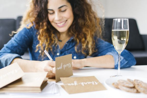 Handwriting thank you notes