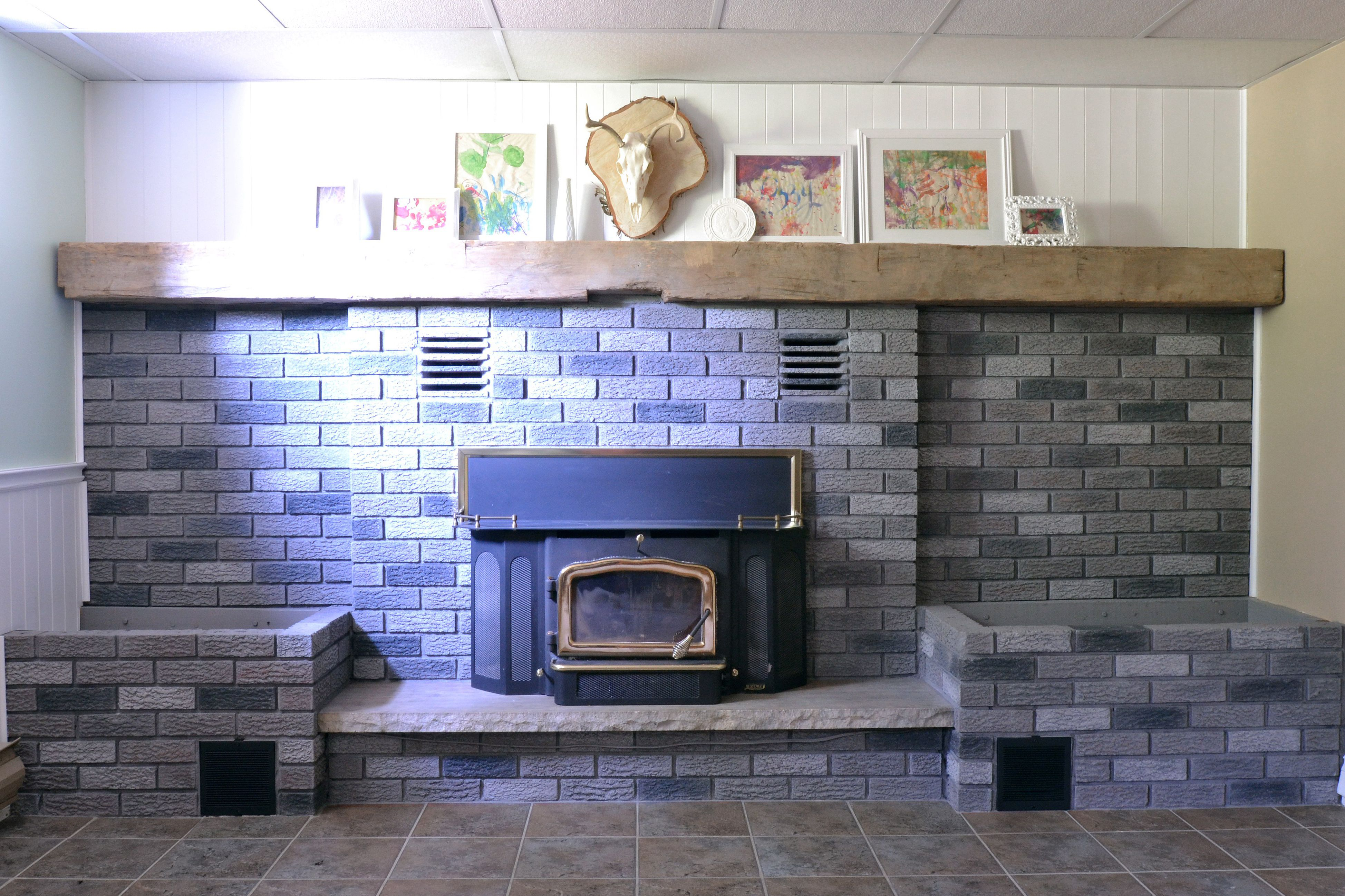 How To Clean Soot Off Painted Brick Fireplace Fireplace