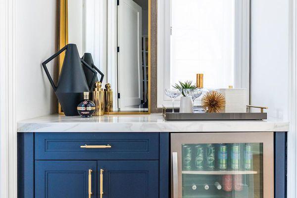 Blue home bar