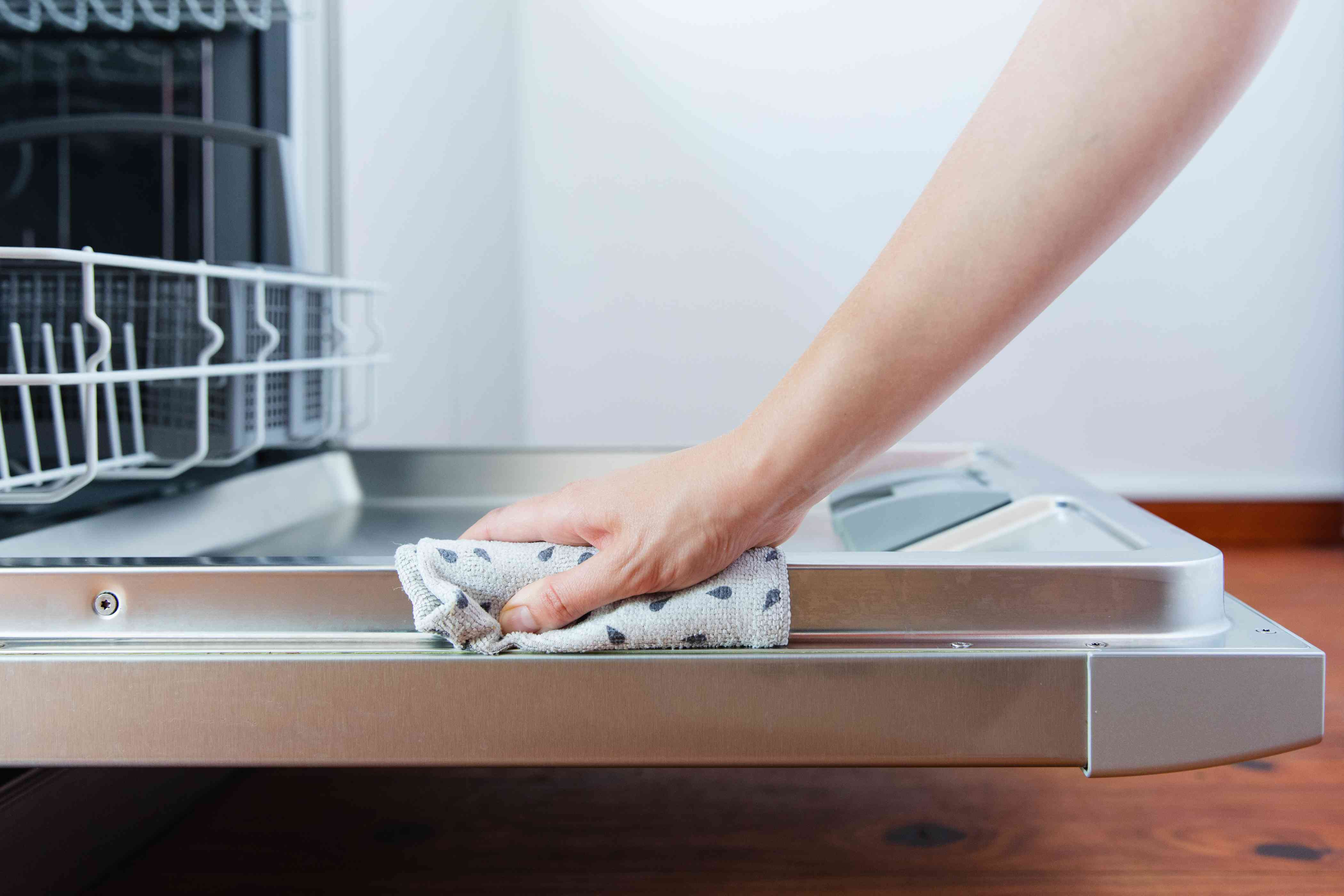 cleaning the dishwasher