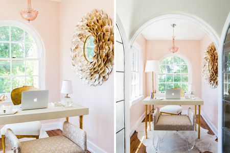dining room office rustic home office millennial pink and gold 27 surprisingly stylish small office ideas