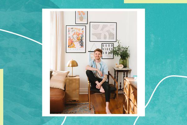 DIYer Drew Scott, aka Lone Fox, poses in a living room