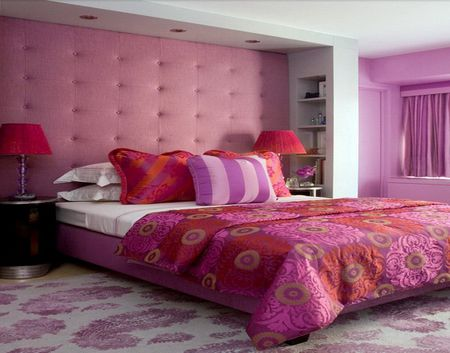 Red Pink And Purple Bedroom