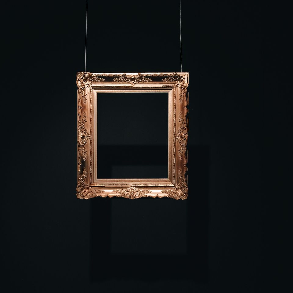 A well-lit picture frame