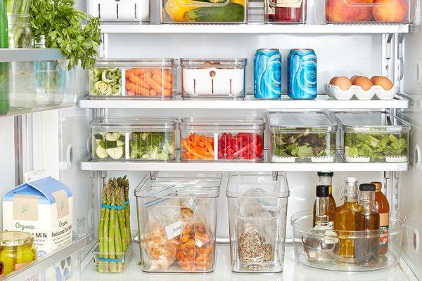 well-organized fridge