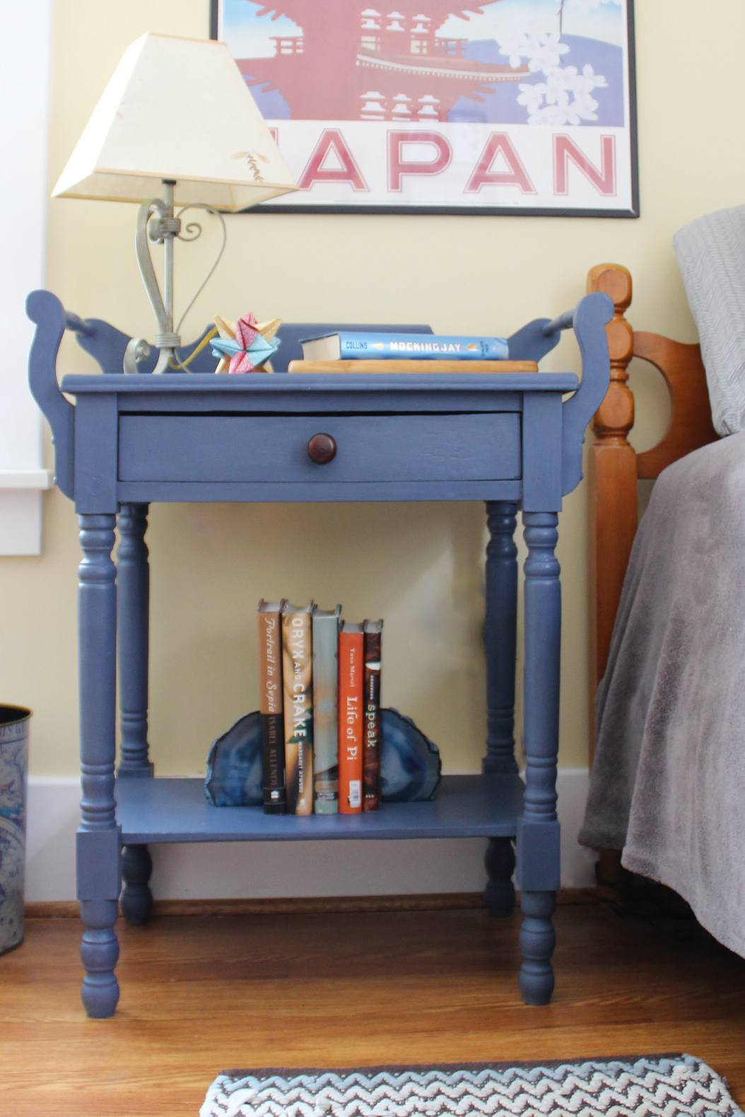finished chalk paint end table