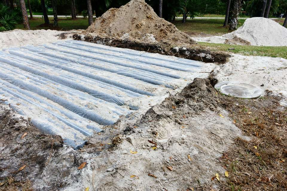 Leach Lines in a Septic System