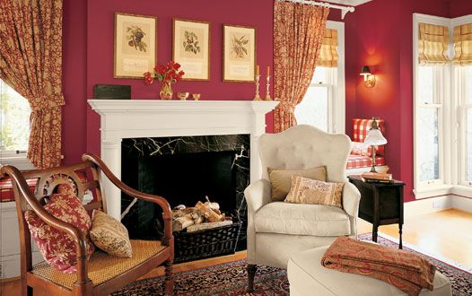 Sala de estar roja