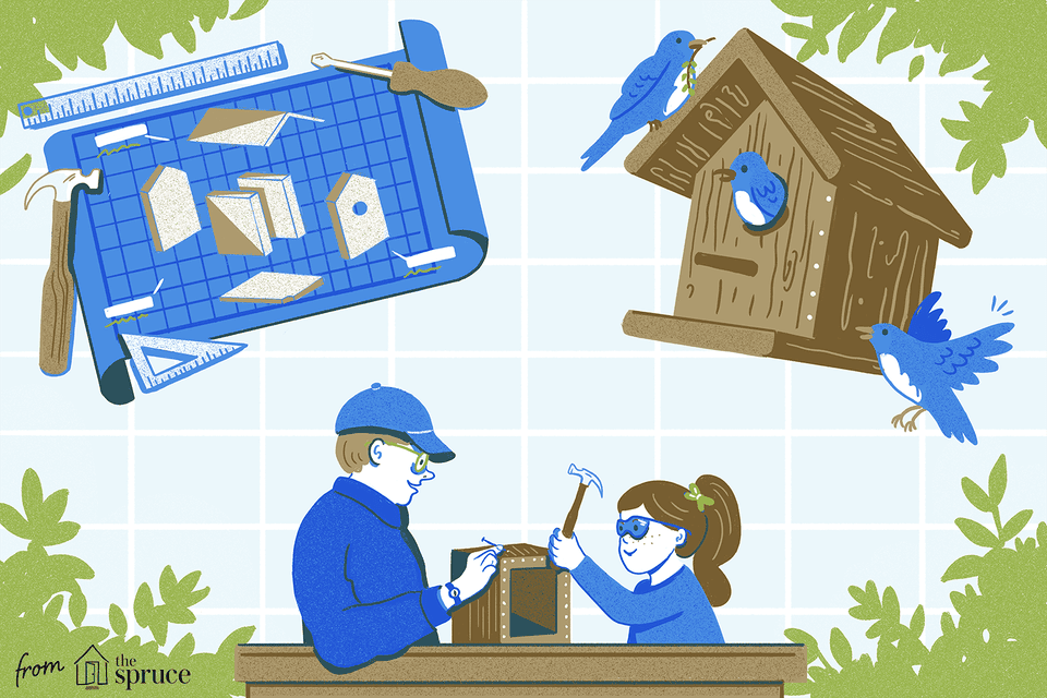 free birdhouse plans illustration